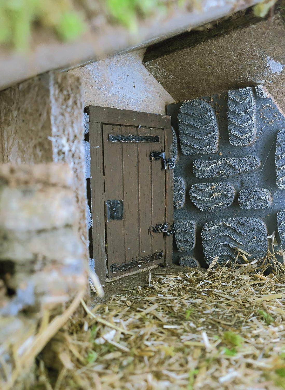 Bertoni Wooden Empty Hut with Door One Size Wood Multi-Colour