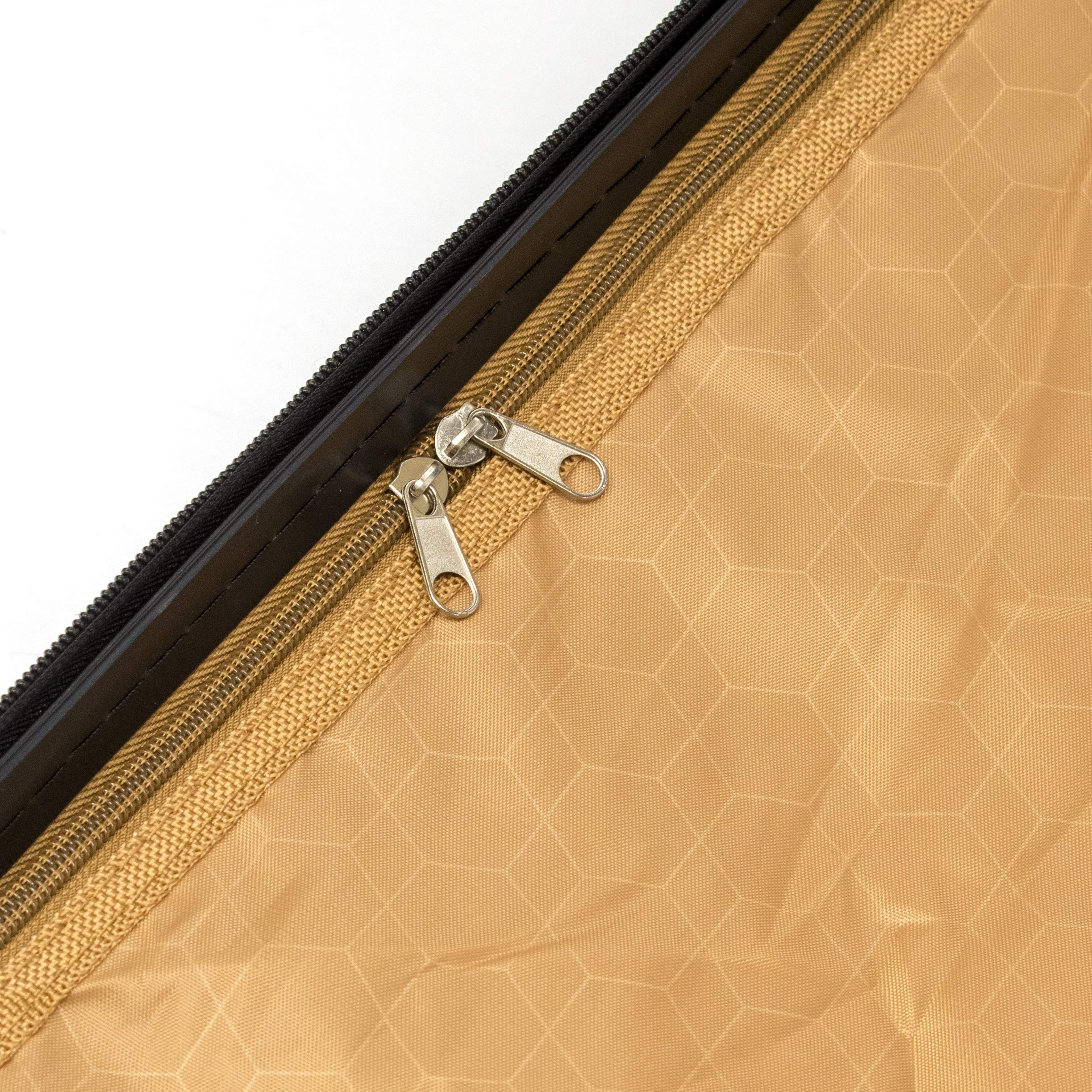 ALEKO LG915BURG ABS Luggage Travel Suitcase Set with Lock 3 Piece Horizontal Stripe Burgundy by ALEKO (Image #7)
