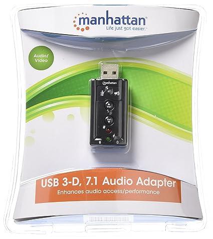 Manhattan 151429 tarjeta de audio Interno 7.1 canales USB - Tarjeta de sonido (7.1 canales, AC3, USB, USB 2.0 CE FCC RoHS WEEE, Windows 7 Home ...