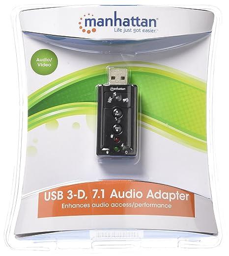 Manhattan 3D 7.1 Hi-Speed USB Sound Adapter (151429)