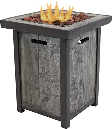Sunnydaze Square Outdoor Propane Gas Fire Pit Table