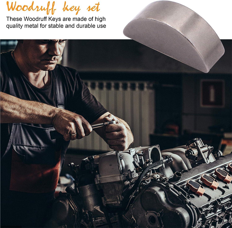 Fuzbaxy 135pcs woodruff key assortment kit Different Size 15 for Fasteners Mechanical Industry