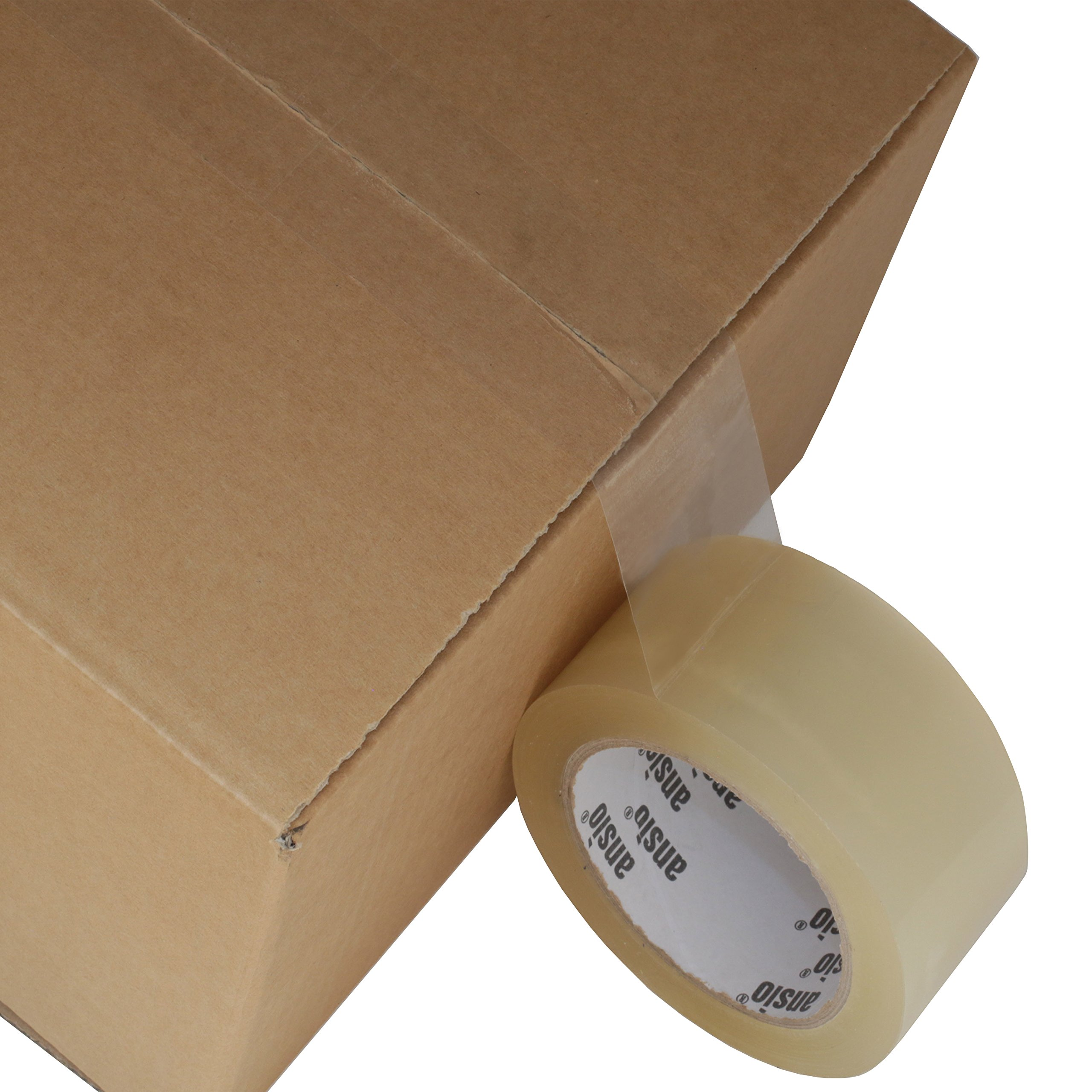 Packing Tape, Shipping Tape, Moving Supplies, Packing Supplies, Packaging Tape, Clear Packing Tape, Box Tape - 2 inches x 66 Yards (50mm x 60m) - 6 Roll Pack