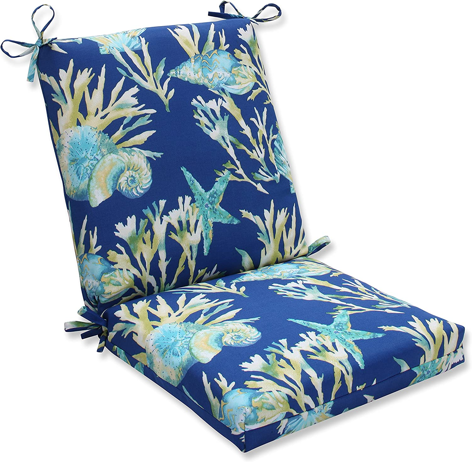 Pillow Perfect Outdoor Indoor Daytrip Pacific Squared Corners Chair Cushion