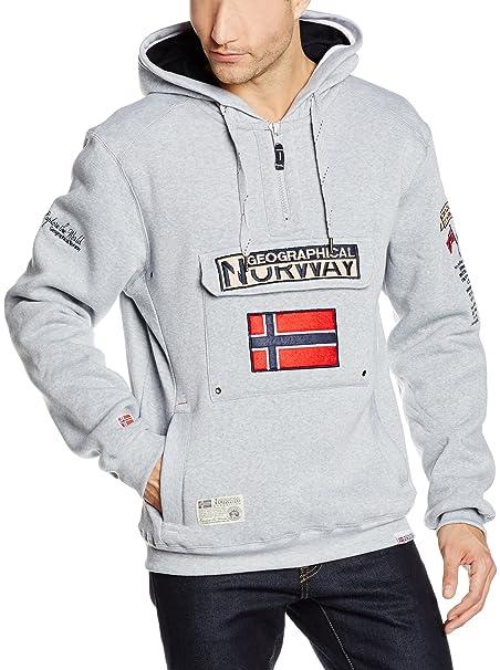 Geographical Norway Sudadera con Capucha Gymclass Gris Claro XL: Amazon.es: Ropa y accesorios