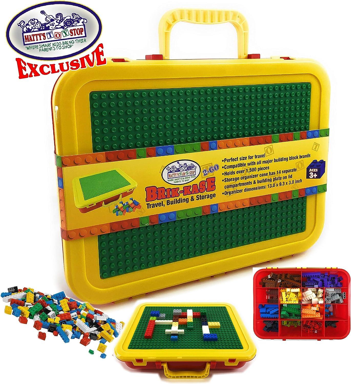 Brik-Kase Lego Travel Pink,... Storage /& Organizer  Case w//Building Plate Lid