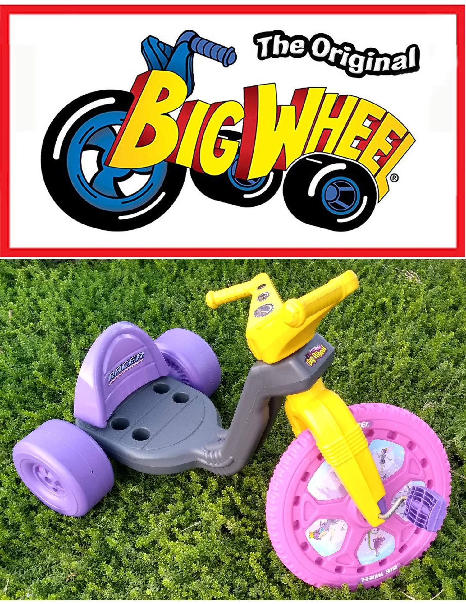 The Original Big Wheel Trike 16'' Gray, Pink & Purple with Disney Fairies Decals