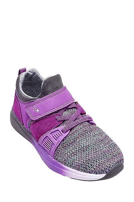 Next Niñas Zapatillas Deportivas (Niña Pequeña) Corte Estándar Morado EU 19: Amazon.es: Zapatos y complementos