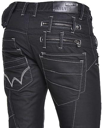 billiger Verkauf Entdecken Online-Shop BLZ Jeans - Glänzend Schwarze Jeans Gerader Schnitt - Size ...