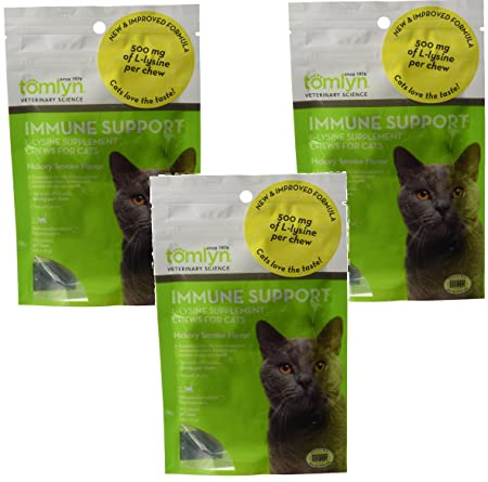 Tomyln Immune Support L-Lysine Nutritional Supplement 2.65oz each 3 Pack