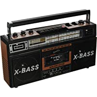 Supersonic Wood Grain Retro 4 Band Radio and Cassette Player