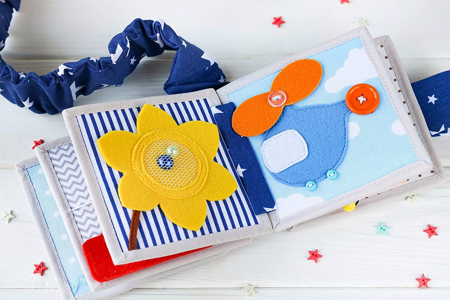 Felt Baby Toy Educational Montessori Toy for a Child 5 Month Quiet Book MINI for Toddler 1.5 Years