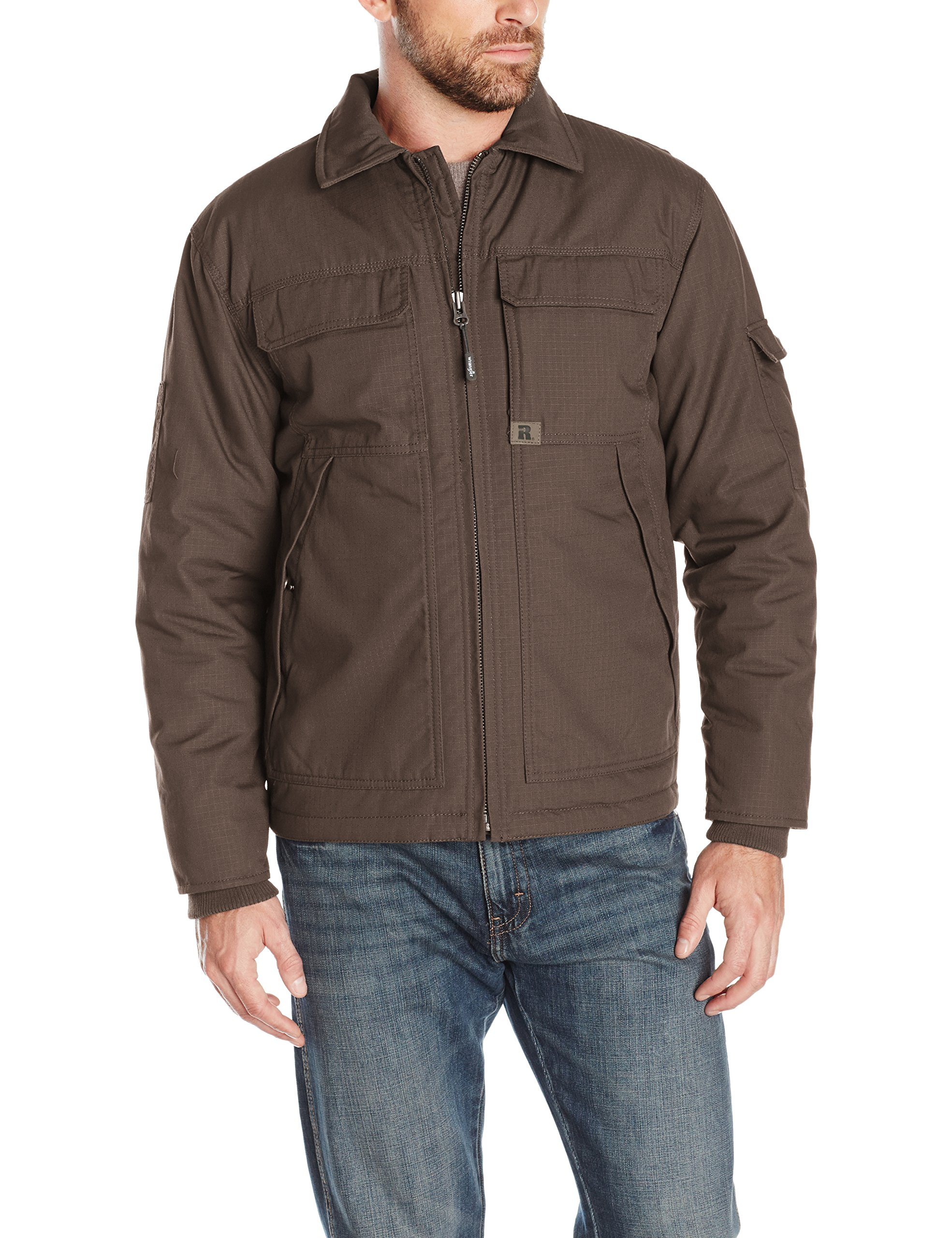 Wrangler Riggs Workwear Men's Ranger Jacket, Dark Brown, XX-Large