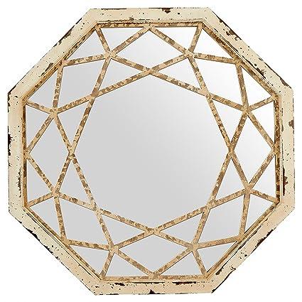 Amazon Com Stone Beam Vintage Look Octagonal Mirror 25 5 H