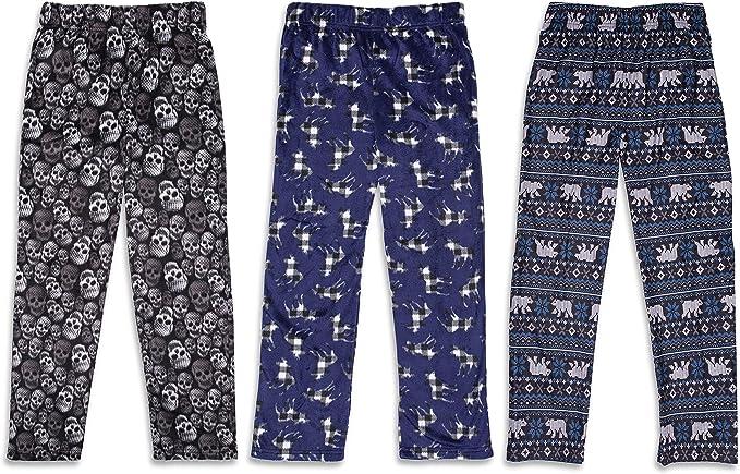Sleep On It 3-Pack Boys Pajama Pants | Soft Kids Pajama Pants – (3 Pack)  Navy/Black: Amazon.ca: Clothing & Accessories