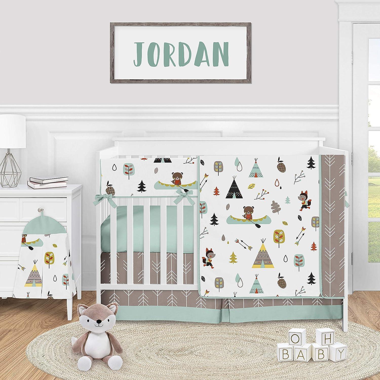 Bear Crib Sheet Gender Neutral Crib Bedding Bear Baby Bedding Woodland Crib Sheet Birch and Bear Bear Crib Sheets Sage Crib Sheet