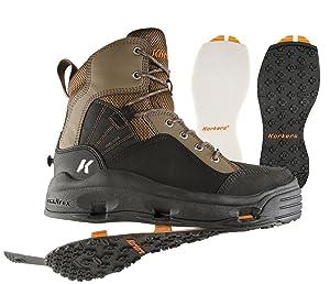 best wading boots felt vs rubber soles korkers