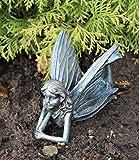 Garden Ornaments - Lying Fairy Antique Bronze effect Sculpture