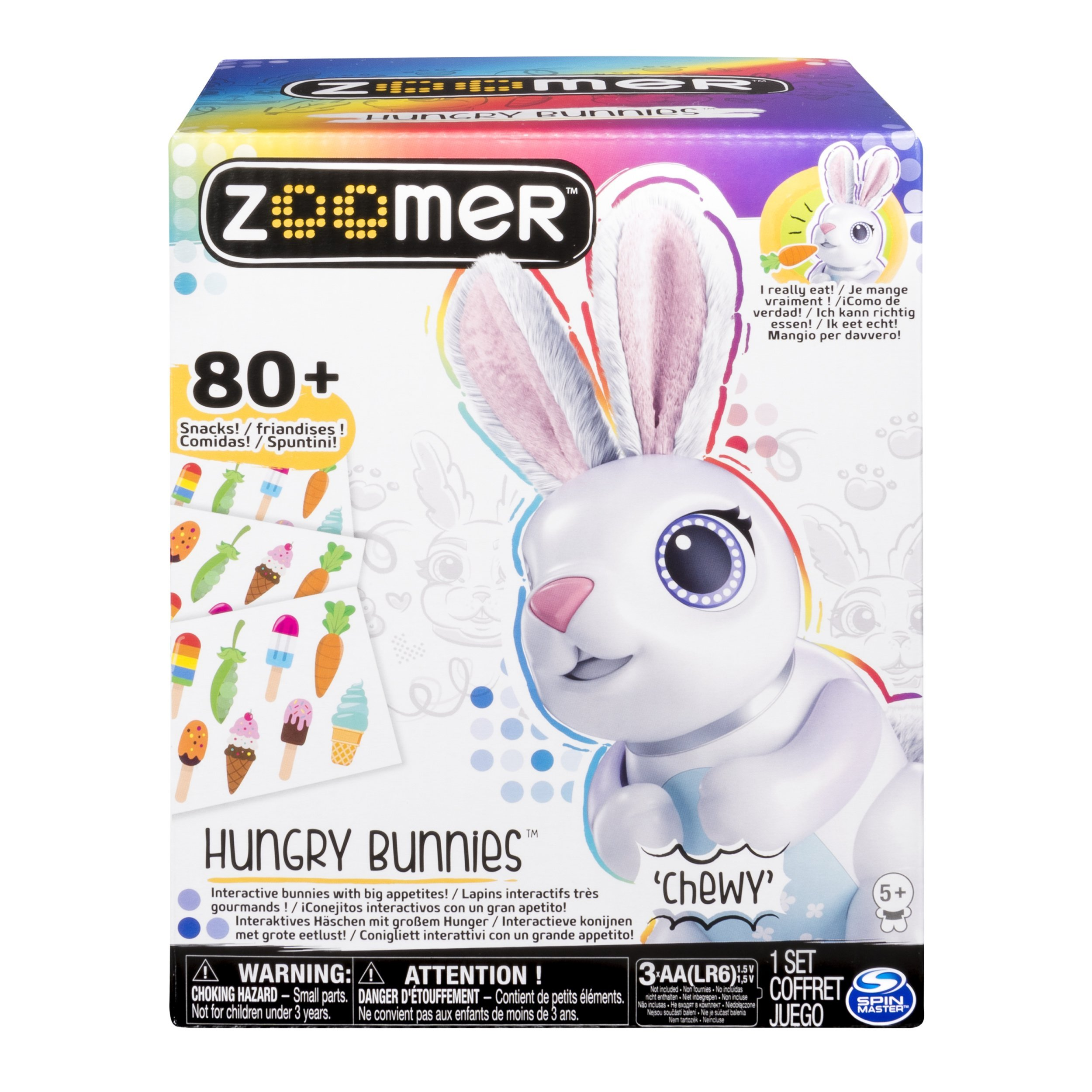 Zoomer Hungry Bunnies Chewy, Interactive Robotic Rabbit That Eats, Ages 5 & Up by Zoomer (Image #2)