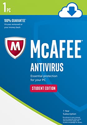 McAfee AntiVirus 1 PC Student Edition [Online Code]