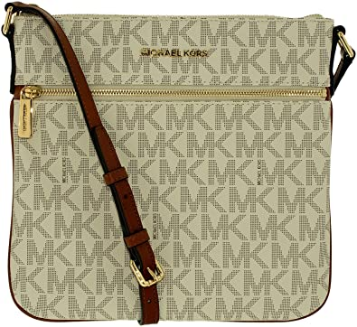 391bfd4b7a4326 Michael Kors Bedford Flat Cross Body VANILLA: Handbags: Amazon.com