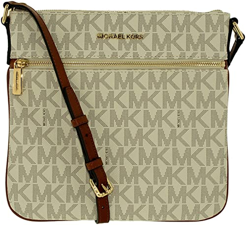 michael kors bedford flat cross body vanilla handbags amazon com rh amazon com