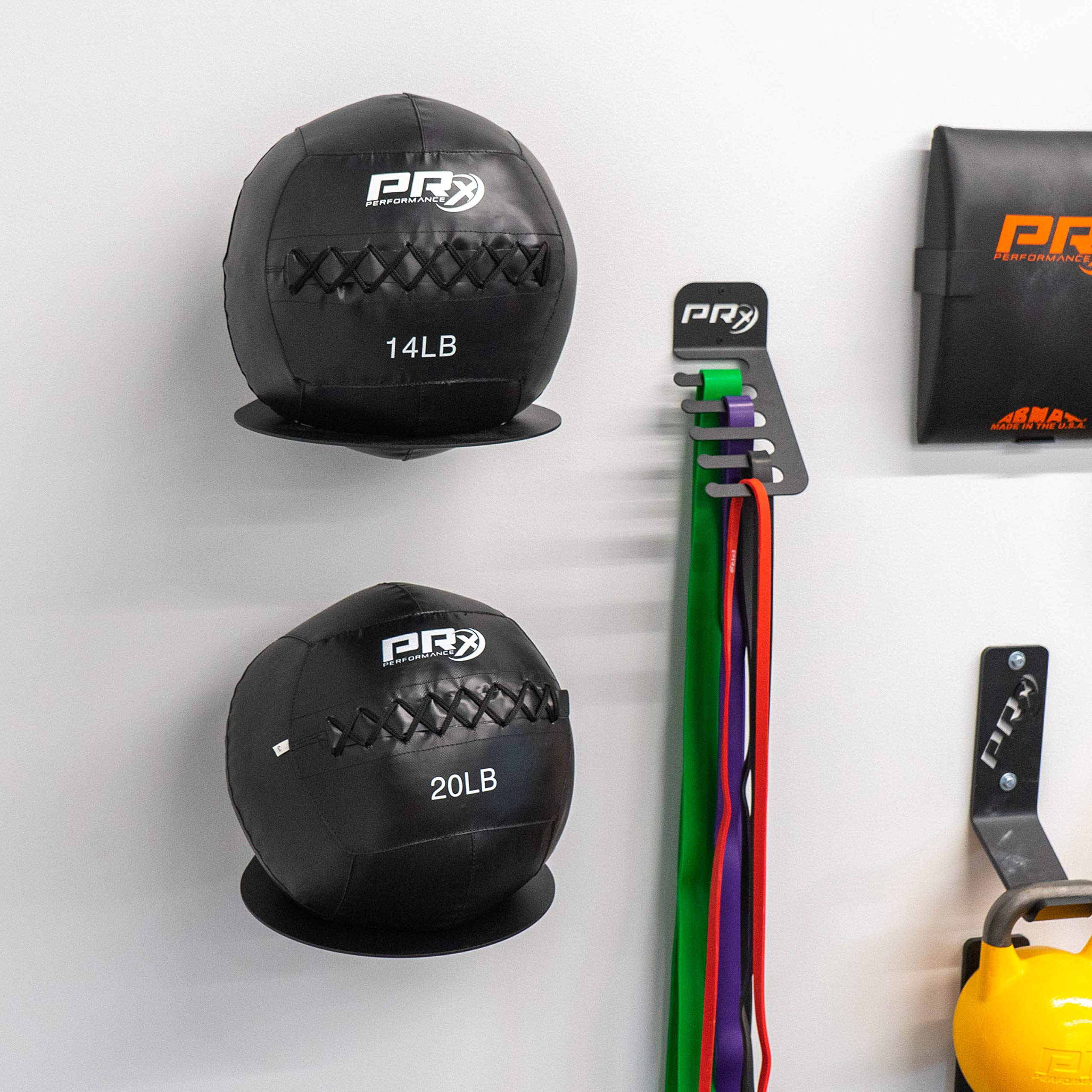 PRx Performance Medicine Ball Storage, Exercise Ball Holder, Wall Mounted, Powder Coated, Space Saving Home Gym by PRx Performance (Image #5)