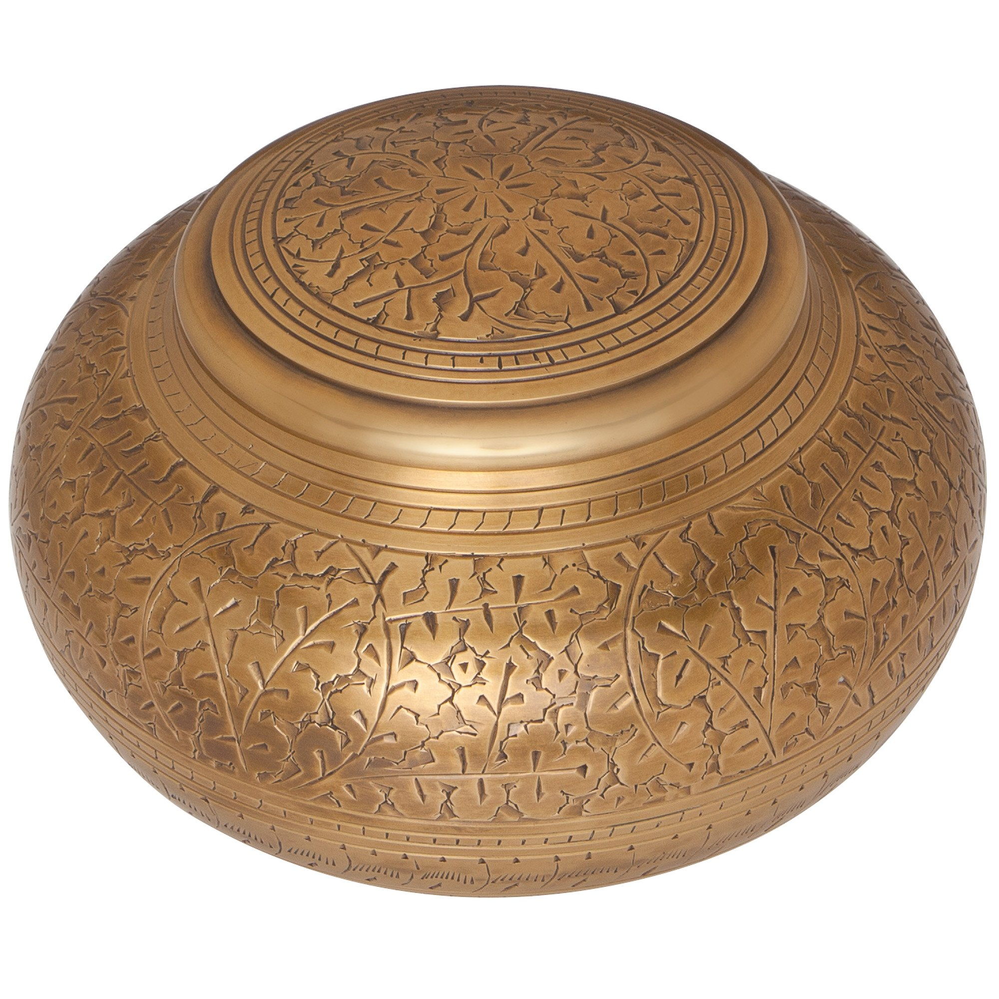 Bronze Antique Brass Funeral Urn by Liliane Memorials - Cremation Urn for Human Ashes - Hand Made in Brass - Suitable for Cemetery Burial or Niche - Large Size fits remains of Adults up to 110 lbs by Liliane Memorials (Image #3)