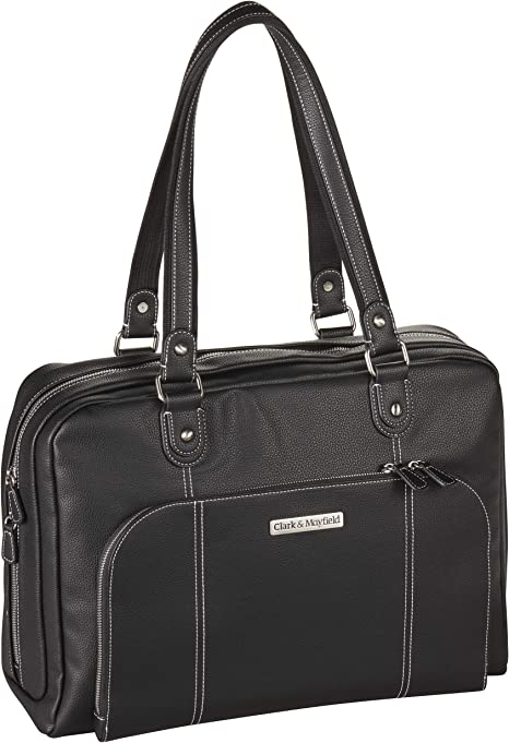 Clark and Mayfield Sellwood Metro XL 17 Laptop Tote Bag Computer Bag in Black