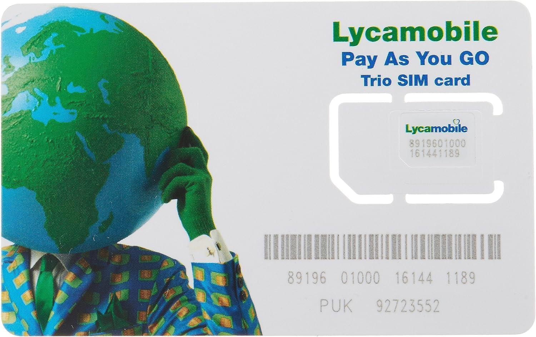 Amazon.com: Lycamobile USA Complete SIM Kit - White: Blue ...