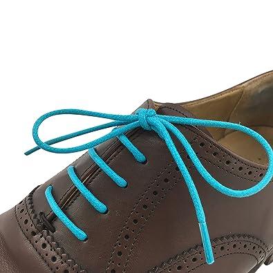 Business Schnürsenkel gewachst reißfest rund - 1 Paar - Ø 2,5mm - von LEISTEN BEIWERK - für Anzugschuh Lederschuh - Rundsenkel - Schuhbänder - Schuhsenkel - Damen - Herren (100cm, gelb)