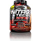 MuscleTech Nitro Tech Ripped Whey Protein Isolate Weight Loss Formula, Chocolate Fudge Brownie, 4 Pounds