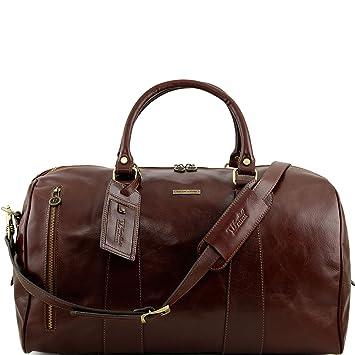 Tuscany Leather TL Voyager Sac de voyage en cuir - Petit modèle Rouge VZ8ARrosZm