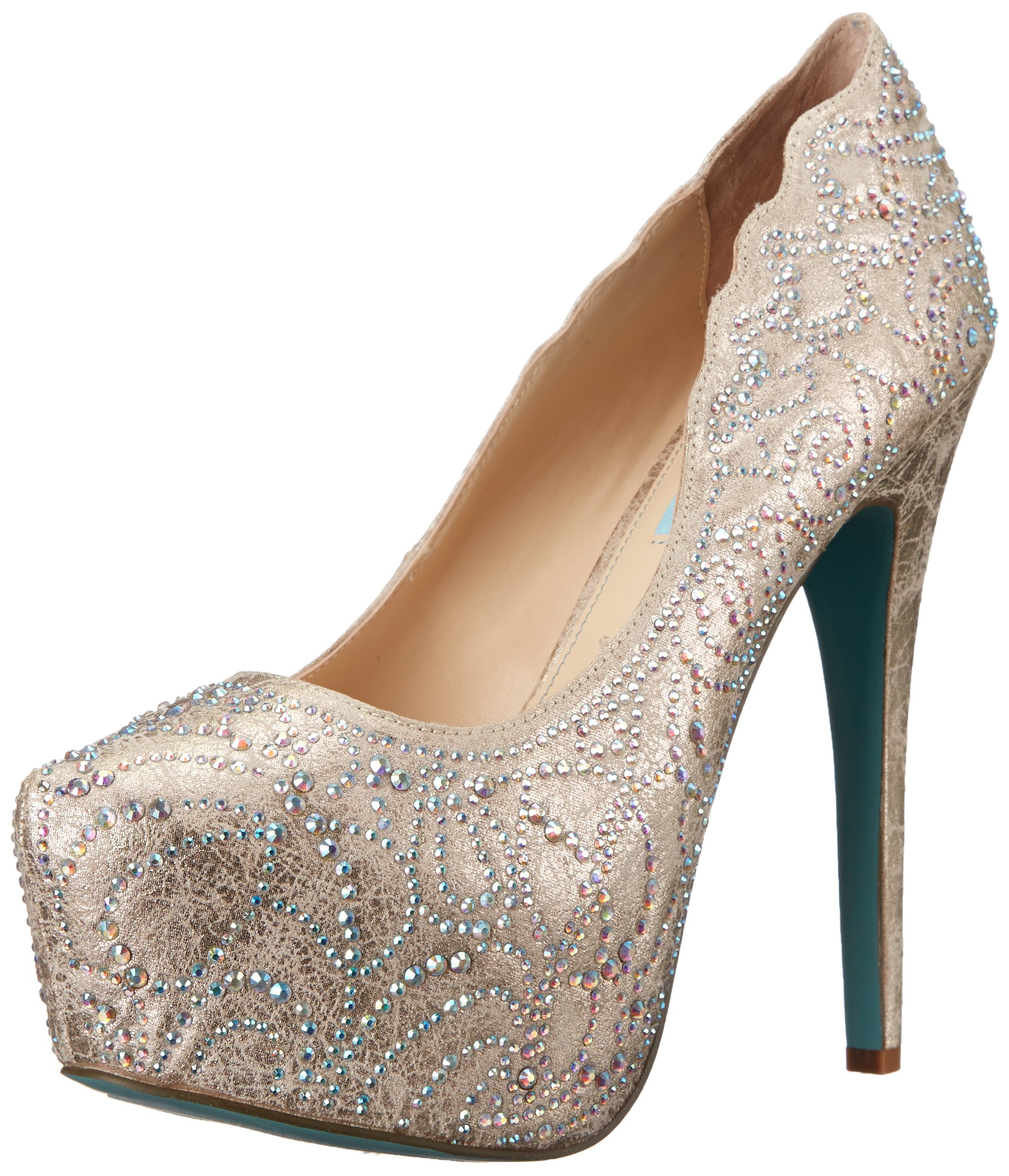 Blue by Betsey Johnson Women's SB-Lucia Dress Pump, Champagne, 8 M US by Betsey Johnson