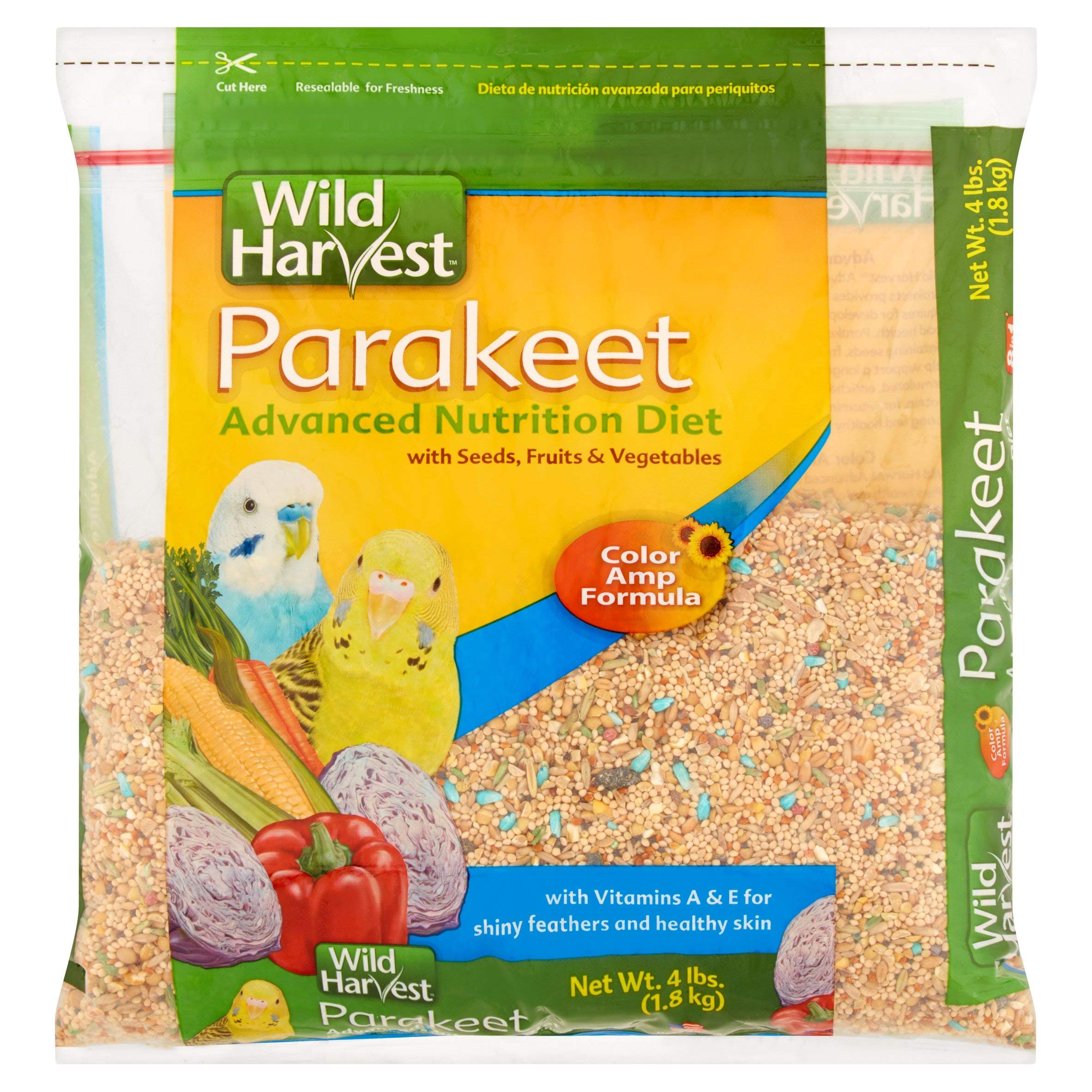 Wild Harvest Advanced Nutrition Diet for Parakeets, 4 lb, 10 Pack by Wild Harvest
