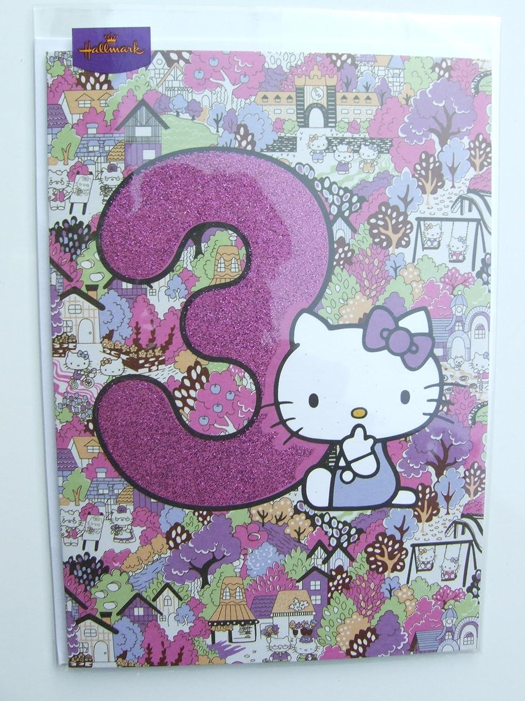 Tarjeta de cumpleaños Hello kitty a partir de 3 por Hallmark ...