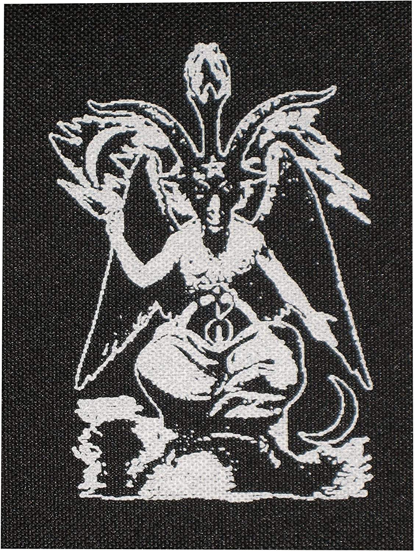 Satanic Baphomet Patch Punk Pentagram Occult Gothic Satan Metal Devil Goat Head