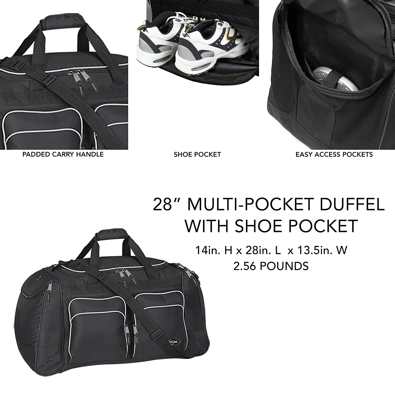 Travelers Club 28 ADVENTURE Multi-Pocket Sport Duffel Black Color Option Travelers Club Luggage 57028001