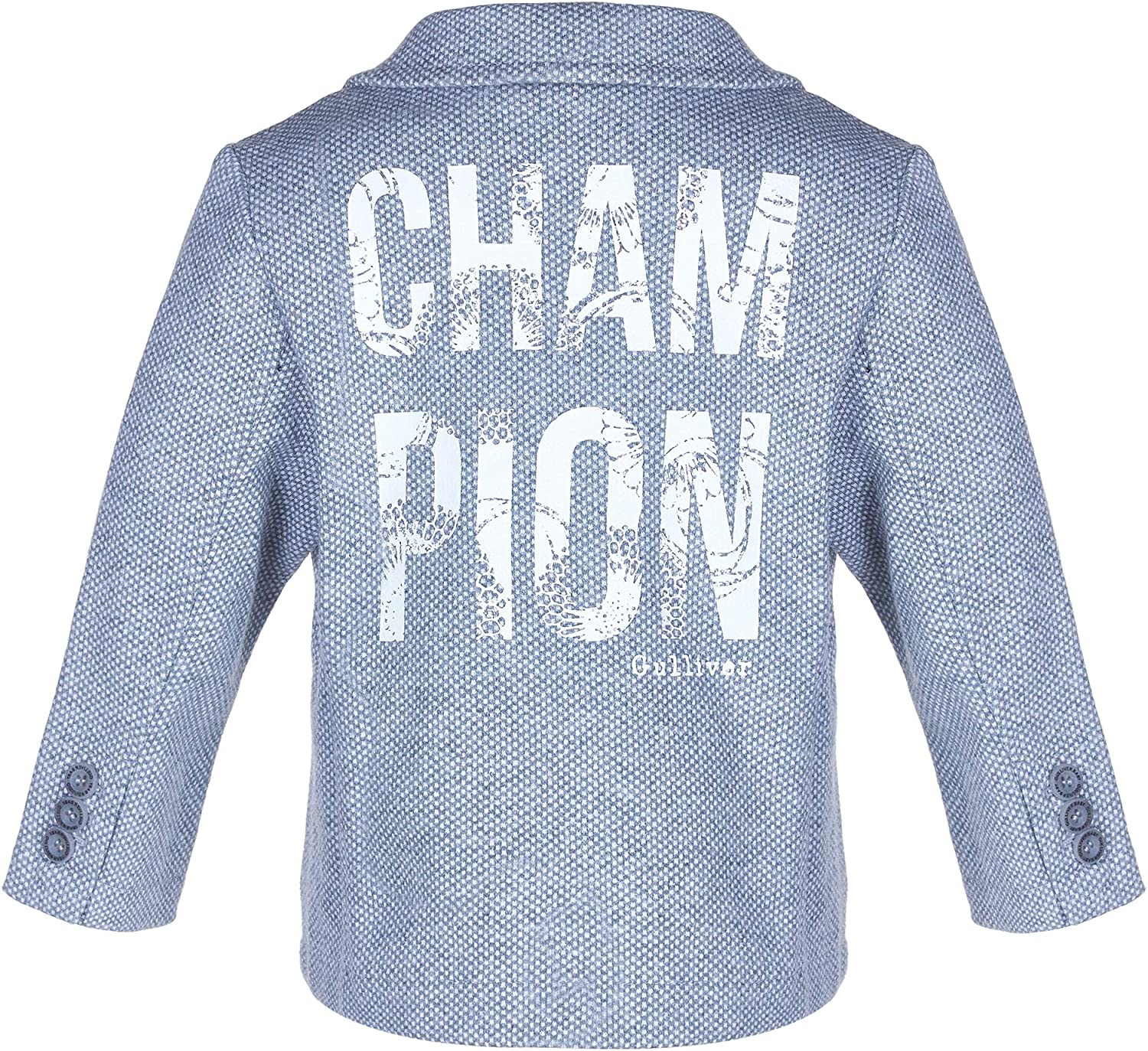 Pockets Cotton Regular Fit V-Neck Collar Letter Print Casual Classic Buttons Long Sleeve Colour Grey GULLIVER Baby Boys Blazer//Jacket for 9-24 Months