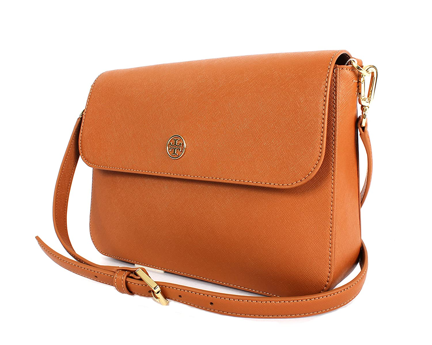 5bbd3e80c60f Amazon.com  Tory Burch Robinson Crossbody Bag Style NO. 36880 Luggage  Shoes