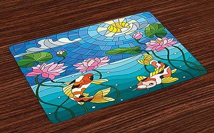 Asian oriental place mats