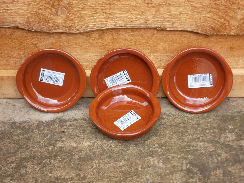 V.Arcos - Cazuela Barro Red. 10cm.