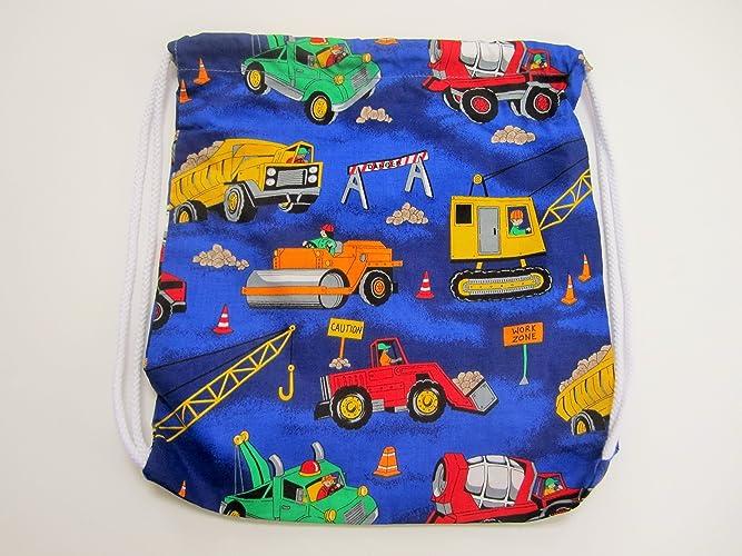 0d4859450152 Amazon.com: Construction drawstring backpack library bag kids travel ...