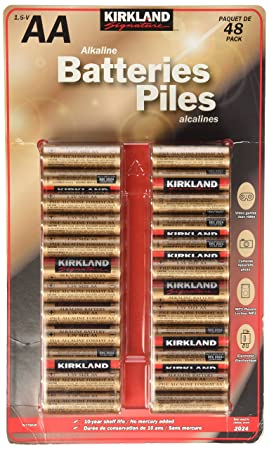 Qty 48 Kirkland juego de pilas alcalinas AA de alta calidad para cámaras digitales, videojuegos