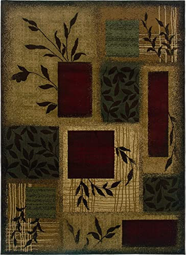 "Amelia 260X6 Floral Area Rug Beige/Red/120.08""Lx97.64""W/Rectangle/Transitional"