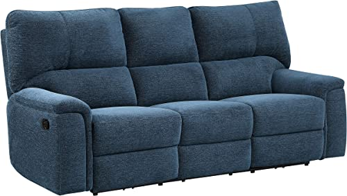 "Lexicon 84"" Manual Double Reclining Sofa"