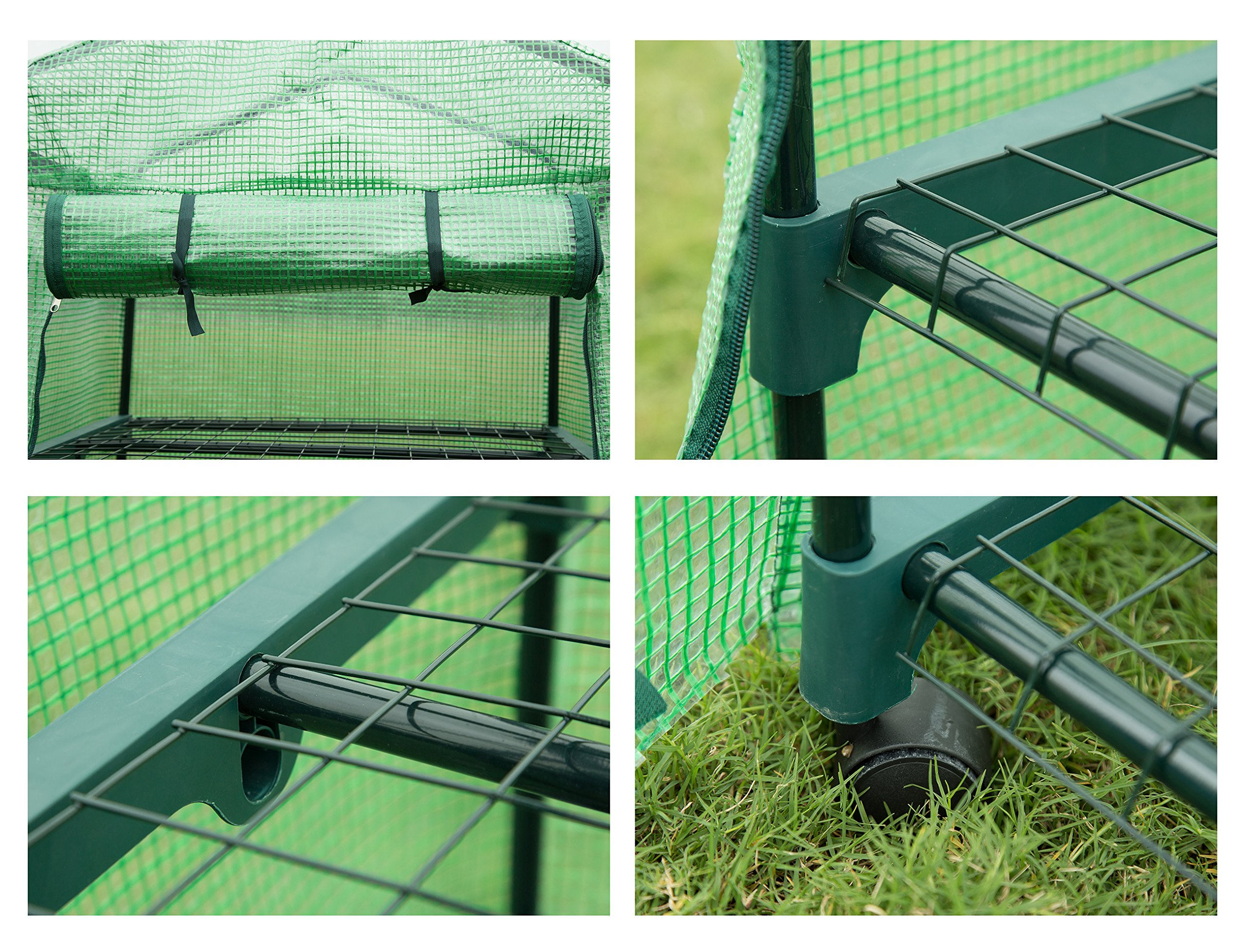 GOJOOASIS 4 Tier Mini Portable Garden Greenhouse on Wheels Plants Shed Hot House for Indoor and Outdoor by GOJOOASIS (Image #8)