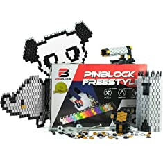 Pinblock - Creative Smart Building Set for Boys and Girls, Freestyle - Metallic with 1000 Interlocking and Rotating Blocks