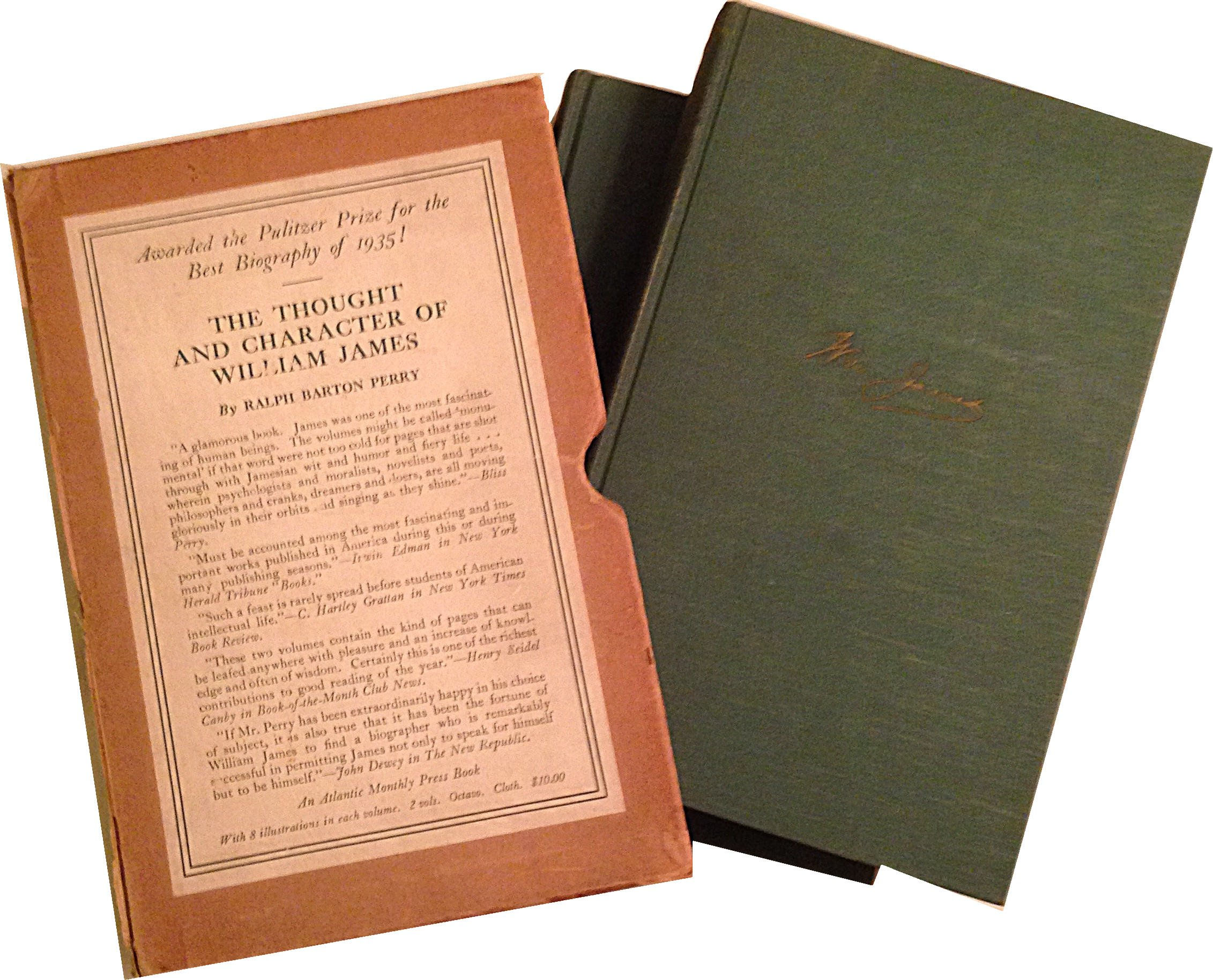 The Thought and Character of William James Two Volumes: Robert Barton  Perry: Amazon.com: Books