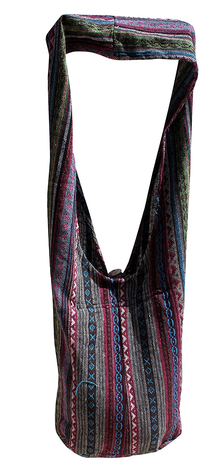 RaanPahMuang Thick Soft Cotton Large Yaam Shoulder Mexican Messenger Bag Long Strap